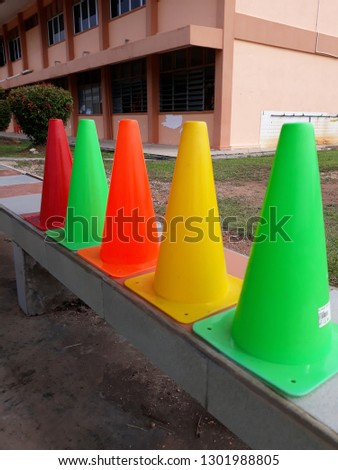 Colourful Sport Skittle Cone  #1301988805