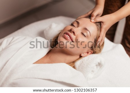 anti-ageing product. service. business. new modern popular massage techniques, close up photo