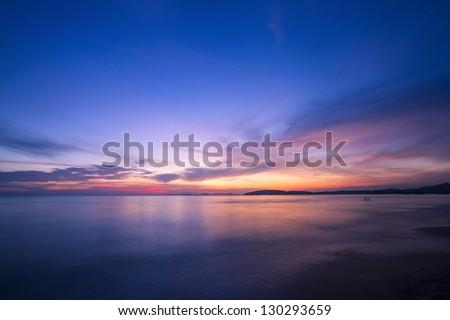 Amazing sunset form thailand beach #130293659