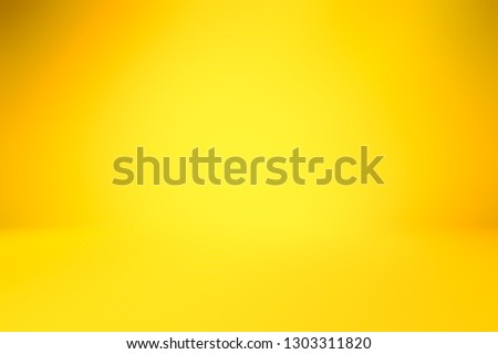 yellow empty room studio gradient used for background and display your product #1303311820
