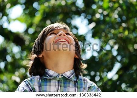 Portrait of a cute kid outdoor #130336442