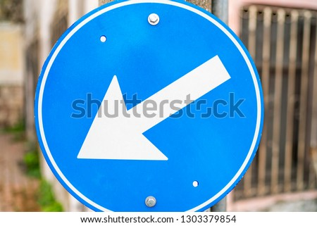 street sign on the pole #1303379854