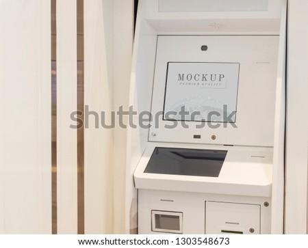 Digital payment machine kiosk mockup #1303548673