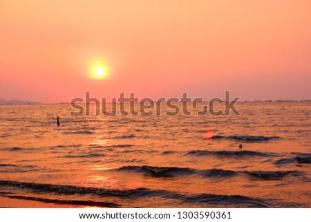 Sunset in Pattaya, Thailand #1303590361