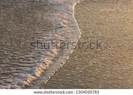 Atlantic ocean wave in evening light, Portugal coast. #1304020783