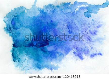 Abstract blue watercolor background #130415018