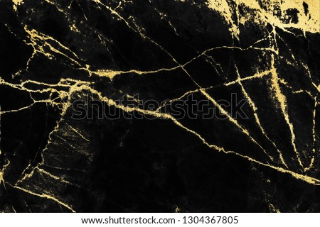 Black and gold marble texture design for cover book or brochure, poster, wallpaper background or realistic business and design artwork. #1304367805