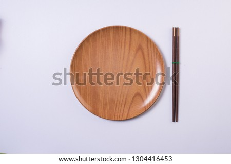 top view wood plate #1304416453