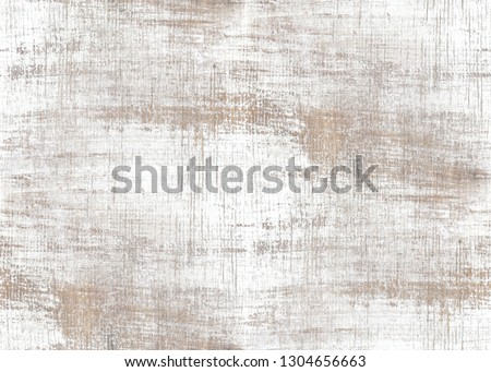 old wood texture distressed grunge background, scratched white paint on planks of wood wall, seamless background #1304656663