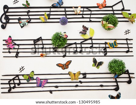 music wall pattern