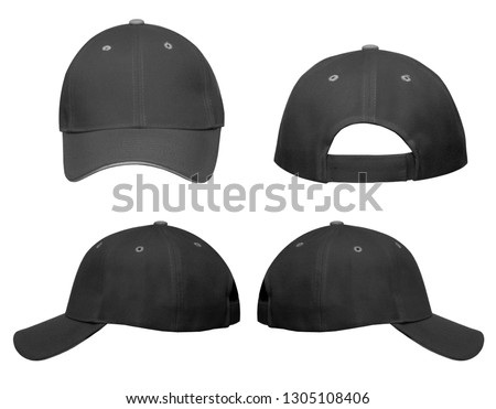 Cap with Blank Space for Yours Design on a white background. #1305108406