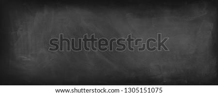 Chalk rubbed out on blackboard background #1305151075