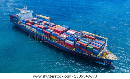 Container Vessel Ship #1305349693