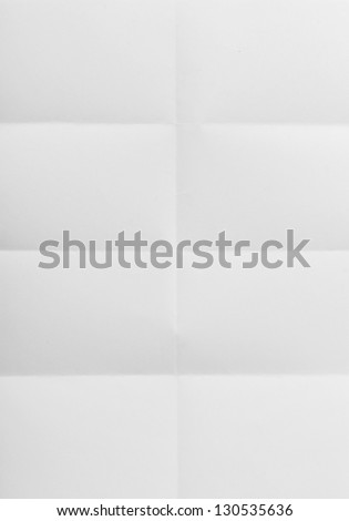 white sheet of paper folded in eight #130535636