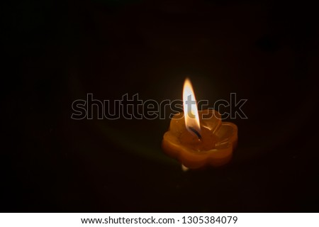 candlelight Candles flower floating on a water #1305384079