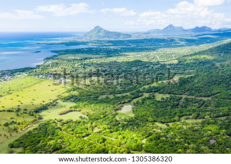 View from Ebony Forest in Mauritius