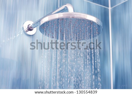 Head shower while running water #130554839