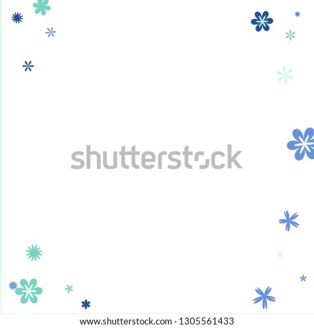 Delicate Floral Pattern with Simple Small Flowers for Greeting Card or Poster. Naive Daisy Flowers in Primitive Style. Vector Background for Spring or Summer Design.  #1305561433