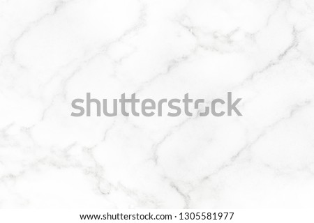 White marble surface for do ceramic counter white light texture tile gray background marble natural for interior decoration and outside. #1305581977