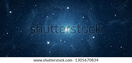 Galaxy stars. Abstract space background #1305670834