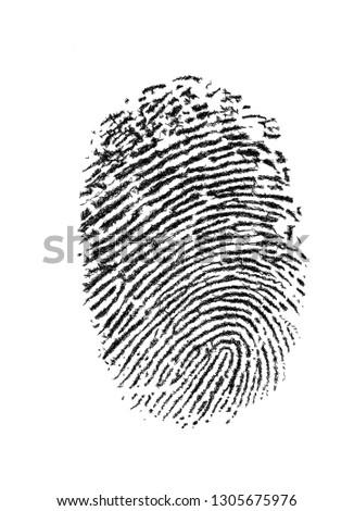Drawing Fingerprint Thumb #1305675976