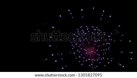 Real fireworks photo in the sky #1305827095