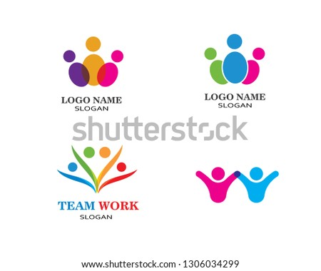Adoption and community care Logo template vector icon #1306034299