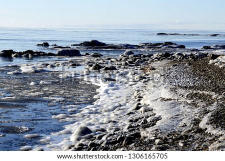 lake winter ice #1306165705