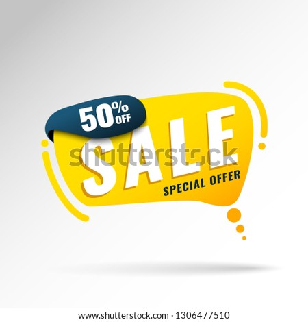 Super Sale, Mega. this weekend special offer banner, up to 50% off. Vector illustration. #1306477510