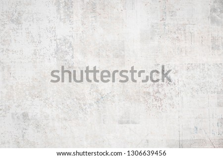 OLD BLANK NEWSPAPER BACKGROUND,  GRUNGE AND SCRATCHED PAPER TEXTURE, SPACE FOR TEXT #1306639456