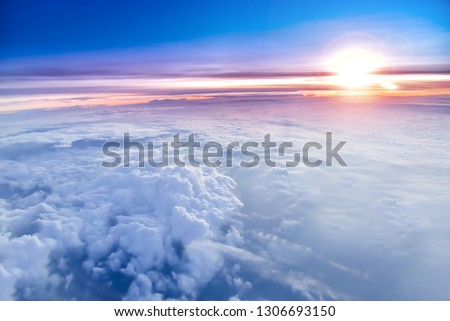 The sky atmosphere of the stratosphere Royalty-Free Stock Photo #1306693150