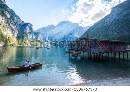 Lago di Braies, Lake in Italy #1306767373