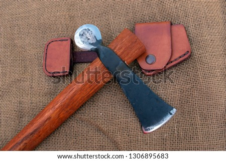 This war tomahawk features two uniquely shaped sharp edges for chopping, slicing or for displaying by the avid hawk collector. #1306895683