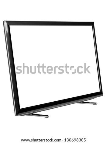 Led Tv. against white background. #130698305