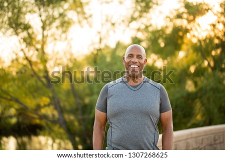 Fit mature African American man. #1307268625