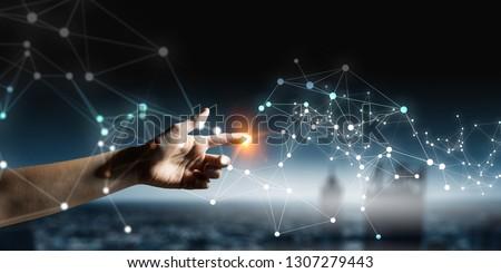 Wireless connection futuristic concept #1307279443