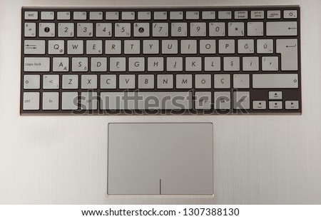 laptop keyboard and touch mouse #1307388130
