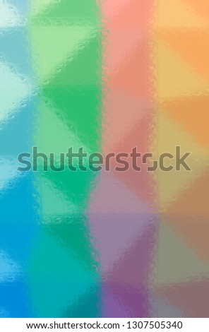 Abstract illustration of blue, green, orange Glass Blocks background #1307505340