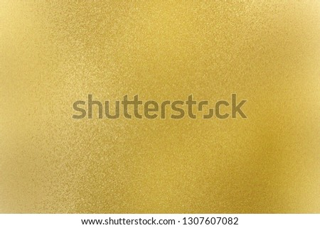Texture of gold brushed metallic plate, abstract background #1307607082