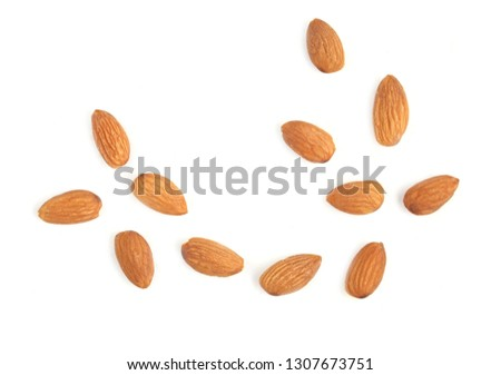 almond on white background #1307673751