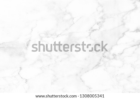 White marble surface for do ceramic counter, white light texture tile gray background marble natural for interior decoration and outside. #1308005341