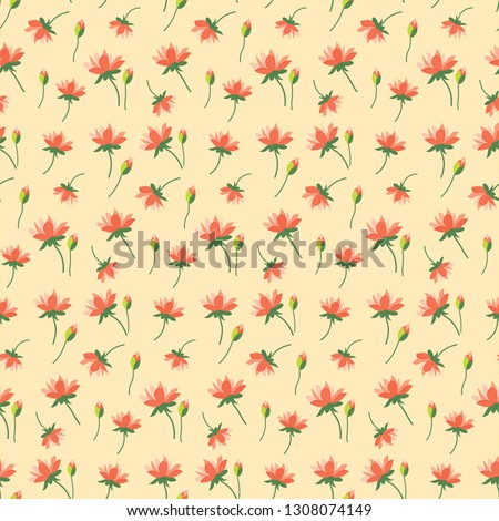 Seamless pattern with water lilies #1308074149