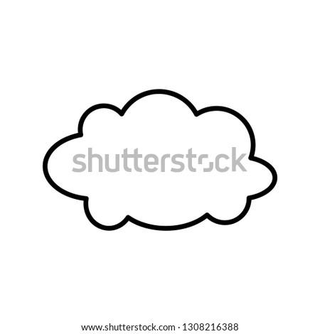 cloud line icon #1308216388