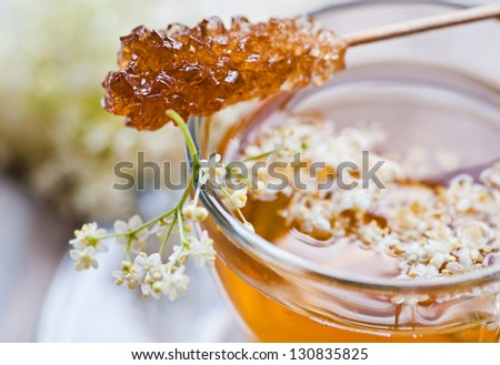 elder flower tea with rock candy #130835825