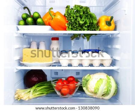 Refrigerator full of food #130838090