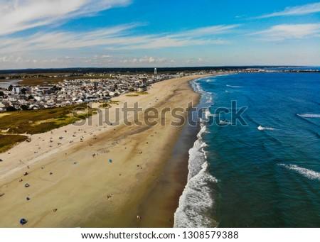 hampton beach aerial view #1308579388