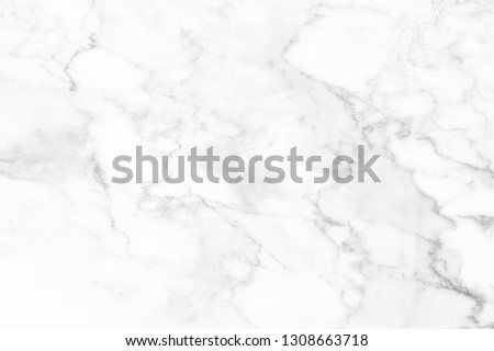 White marble surface for do ceramic counter, white light texture tile gray background marble natural for interior decoration and outside. #1308663718