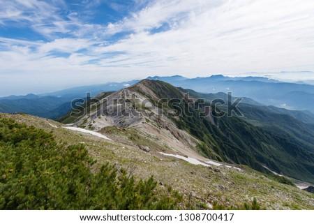 trekking in northern alps japan #1308700417