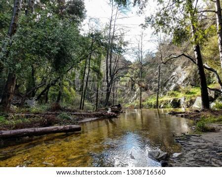 Big Santa Anita Canyon Stream Royalty-Free Stock Photo #1308716560