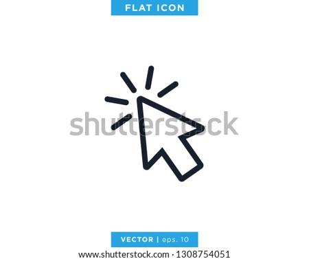 Pointer Arrow Icon Vector Design Template. Click Sign #1308754051